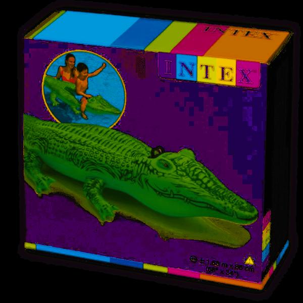 Intex Materac dmuchany aligator 168x86cm 58546 zdjęcie 1