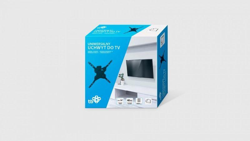 """Uchwyt TV do telewizora do 56"""" 40kg max VESA 400x400 zdjęcie 2"""