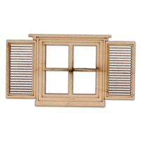 AD979 Okno z pięknymi okiennicami