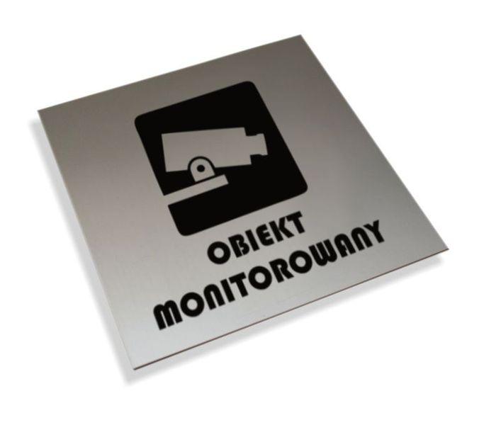 Tabliczki informacyjne na drzwi piktogram obiekt monitorowan tabliczka na Arena.pl