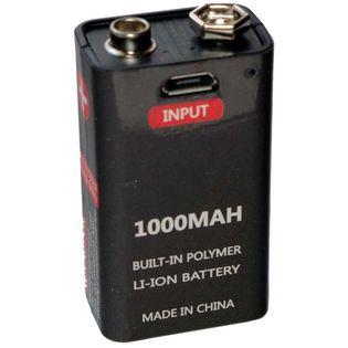 Akumulatorek bateria 9V 1000 mah z USB 6LR61 6F22 6AM6 522 Block