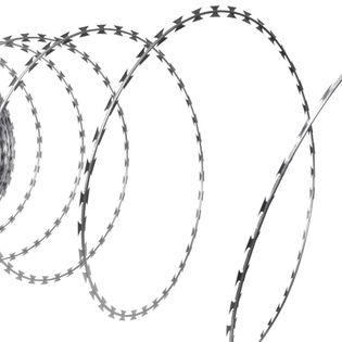 Drut Kolczasty Nato, Żyletkowy Z Galwanizowanej Stali, Rolka 60 M