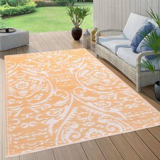 Lumarko Dywan na zewnątrz, pomarańczowo-biały, 120x180 cm, PP