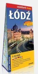 Compfort! map Łodź 1:22 000 plan miasta praca zbiorowa