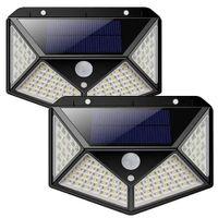 2 lampy solarne 100 LED z czujnikiem ruchu i zmierzchu