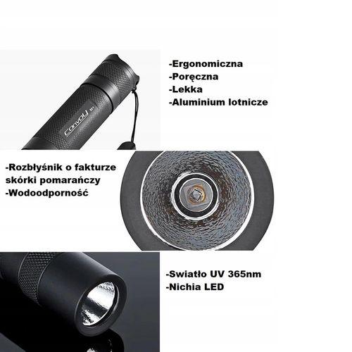 Latarka UV CONVOY S2+ UV 365nm LED Ultrafiolet na Arena.pl