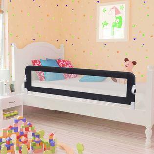 Barierka do łóżeczka dziecięcego szara 150x42cm poliester VidaXL