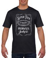 Koszulka męska SUPER TATA NO1 DZIEN OJCA c M