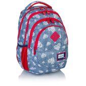 Plecak szkolny dziecięcy Astra Head HD-196, niebieski w serduszka