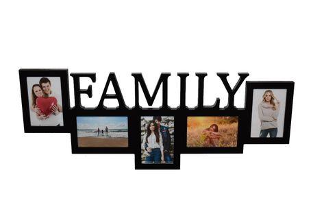 Multirama drewniana ramka na zdjęcia z napisem FAMILY