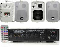 ZESTAW NAGŁOŚNIENIA 6 KOLUMN MP3 USB SD PC ZAIKS