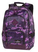 Plecak szkolny młodzieżowy CoolPack Unit Camo Violet A554 84120CP