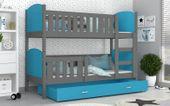 Łóżko piętrowe TAMI COLOR 190x80 szuflada + materace zdjęcie 2