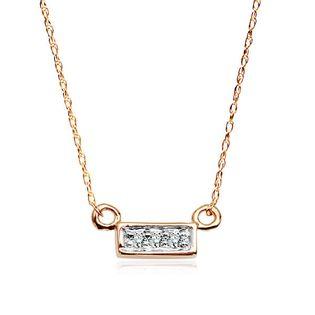 Złoty naszyjnik z diamentami