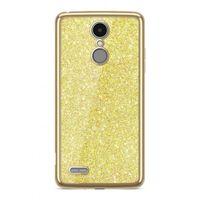 Etui Nakładka Electro Glitter  LG K8 2017 Złoty