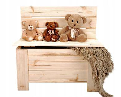 Ławka Skrzynia drewniana kufer pojemnik na zabawki