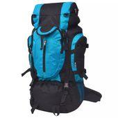 Plecak turystyczny XXL 75 L, czarno-niebieski