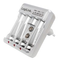 Ładowarka akumulatorów LogiLink PA0168 Ni-MH / Ni-Cd AA / AAA / 9V
