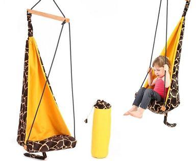 Huśtawka dziecięca – wiszący fotel HANG MINI Żyrafa