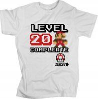 T-shirt Koszulka MARIO na urodziny level compleate