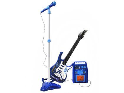 GITARA Elektryczna dla dzieci z wzmacniaczem + Mikrofon Z337N