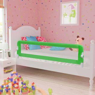 Barierka do łóżeczka dziecięcego zielona 120x42cm poliester VidaXL