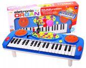 Keyboard Organy Pianino dla dzieci z mikrofonem Niebieskie Y257N
