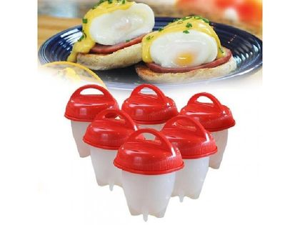 Silikonowe formy do gotowania jajek bez skorupek