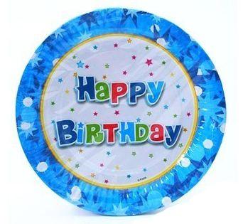 Talerzyki Happy Birthday Roczek Urodziny boy 6szt