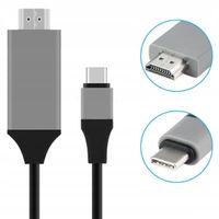 KABEL ADAPTER MHL USB-C DO HDMI 4K Thunderbolt 3.0 do MACBOOK PRO AIR SAMSUNG i inne