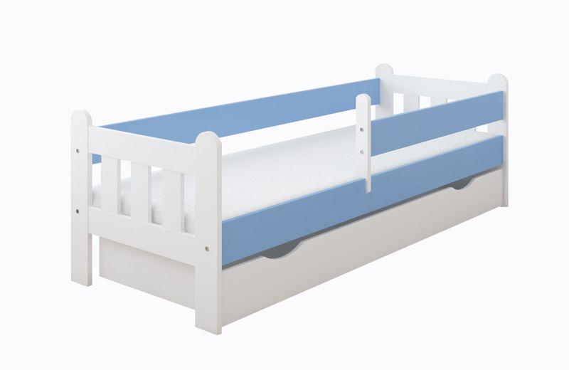 Łóżko STAŚ 140 x 70 z szufladą + barierka ochronna + MATERAC GRATIS zdjęcie 14
