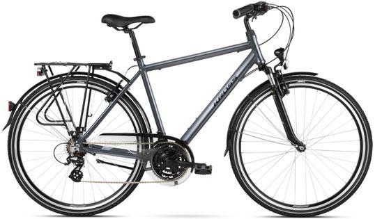 """Kross Trans 2.0 28 M 19"""" rower grafitowy/czarny połysk 12"""