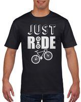 Koszulka męska Just ride - rower XXL Czarny