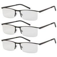 Okulary do czytania 3 szt +3 metalowa oprawka swe