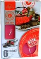 Duże podgrzewacze Tealight Maxi a'6 Red tea
