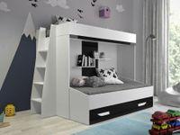 Łóżko Piętrowe dla dzieci, meble młodzieżowe antresola PARTY 17
