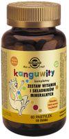 Kompletny zestaw witamin i składników mineralnych Kanguwity smak owoców trapikalnych 60 pastylek do ssania Solgar