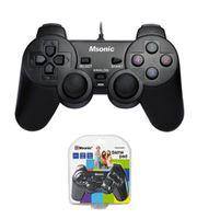 Gamepad przewodowy MSONIC USB z funkcją wibracji MN3329BK czarny