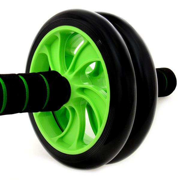 Podwójne Kółko do ćwiczeń roller zielony zdjęcie 7
