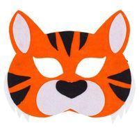 filcowa MASKA tygrys POMARAŃCZOWY tygrysek PASKI