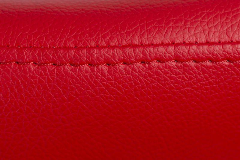 Podnóżek Jajo Soft skóra eko 513 czerwony D2 zdjęcie 4