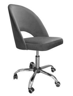 Fotel obrotowy POLO / ciemny szary / noga chrom / BL14