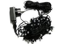 Super gęsta girlanda sznur 4m • 400 LED perełki • na zewnątrz • timer • z gniazdem  NR 1821 Niebieski + Zimny biały