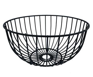 Koszyk stalowy na owoce 25cm czarny 1704