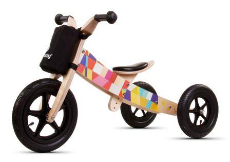 Rowerek biegowy drewniany 2w1 Twist Mosaic Black Edition Sun Baby E02.