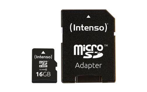 Intenso Pamięć Micro SDHC 16GB C10 Adapter 3413470