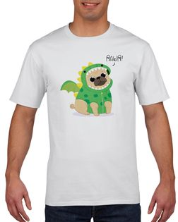 Koszulka męska PUG MOPS  S