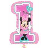 Amscan Balon foliowy Cyfra Minnie 1 urodziny