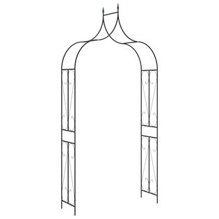 Źelazna pergola ogrodowa 120x38cm czarna