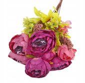 Róża Fiolet -piękny bukiet z przybraniem 8szt 50cm